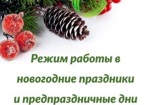 Региональная служба занятости информирует о режиме работы отделений в предпраздничные дни и новогодние праздники