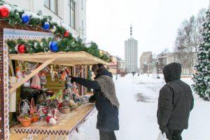В столице Поморья заработали новогодние ярмарки